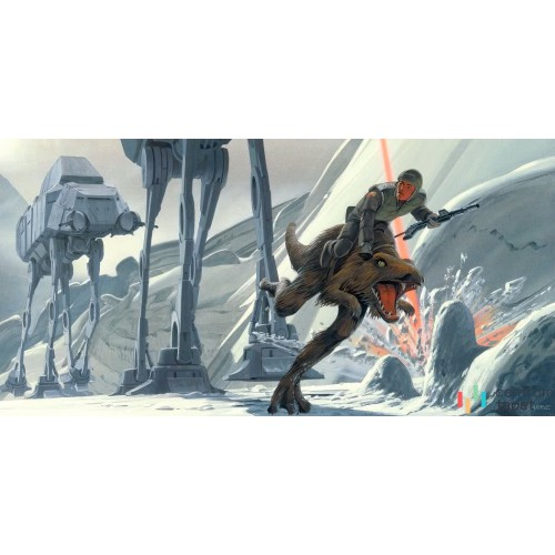 Fototapeta DX10-054 Star Wars Classic RMQ Hoth Battle Ground