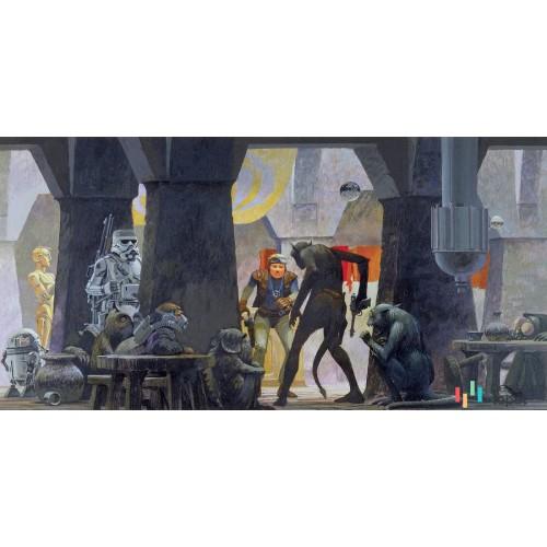 Fototapeta DX10-060 Star Wars Classic RMQ Mos Eisley Streets