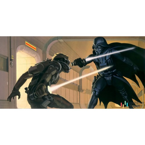 Fototapeta DX10-066 Star Wars Classic RMQ Vader vs Luke