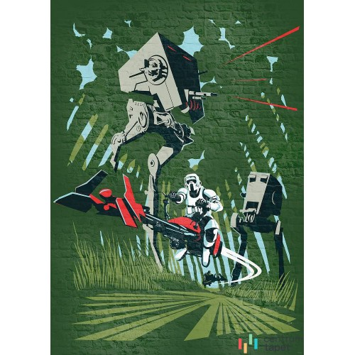 Fototapeta DX4-036 Star Wars Classic Concrete Endor