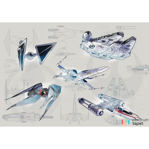 Fototapeta DX8-078 Star Wars Blueprint Light