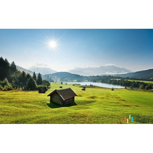 Fototapeta SHX9-009 Bergwiese vor Karwendel