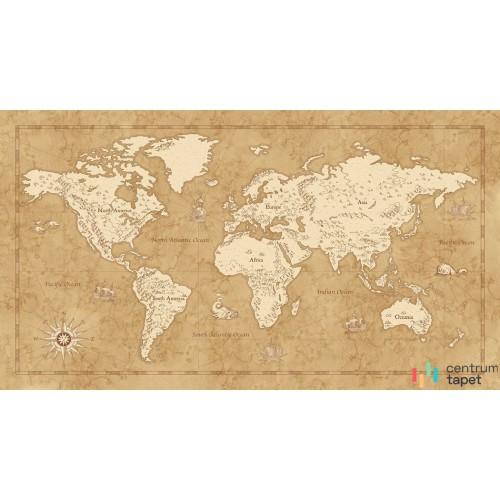 Fototapeta IAX10-0027 Vintage World Map